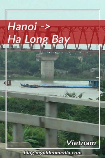 mit dem Bus von Hanoi zur Halong Bucht
