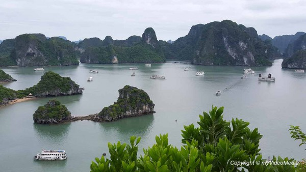 Ha Long Bay View from Hon Ti Top