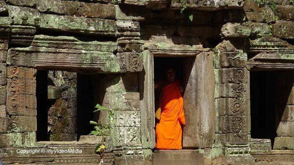 Mönch in Ta Prohm