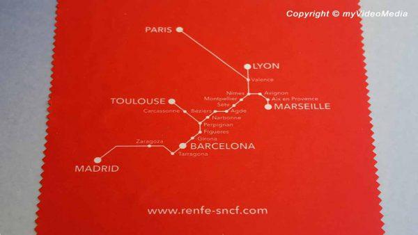 von Paris nach Barcelona