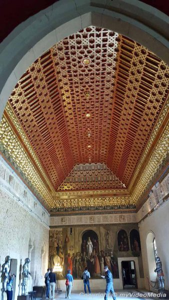 Galera-Saal Alcazar von Segovia