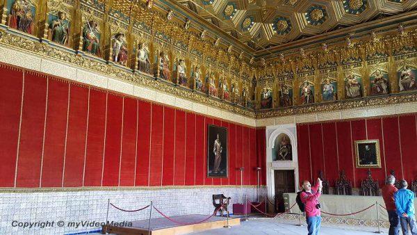 Saal der Könige im Alcazar von Segovia