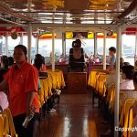 By express boat on the Chao Phraya River in Bangkok
