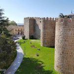 Walk on the city walls of Avila