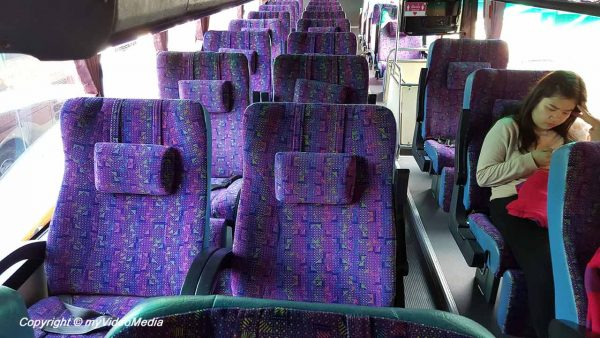 By bus from Chiang Mai to Bangkok