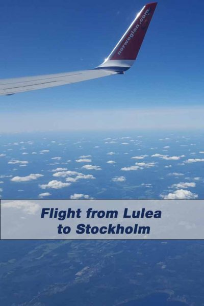 Flight from Lulea to Stockholm