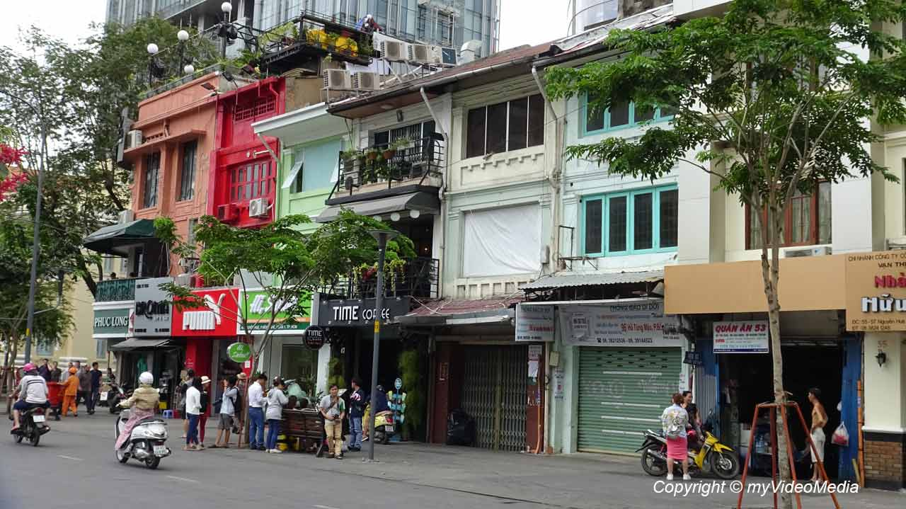 city walk in Ho Chi Minh City