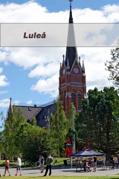 A walk through the center of Lulea
