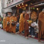 Feeding the monks in Chiang Khan