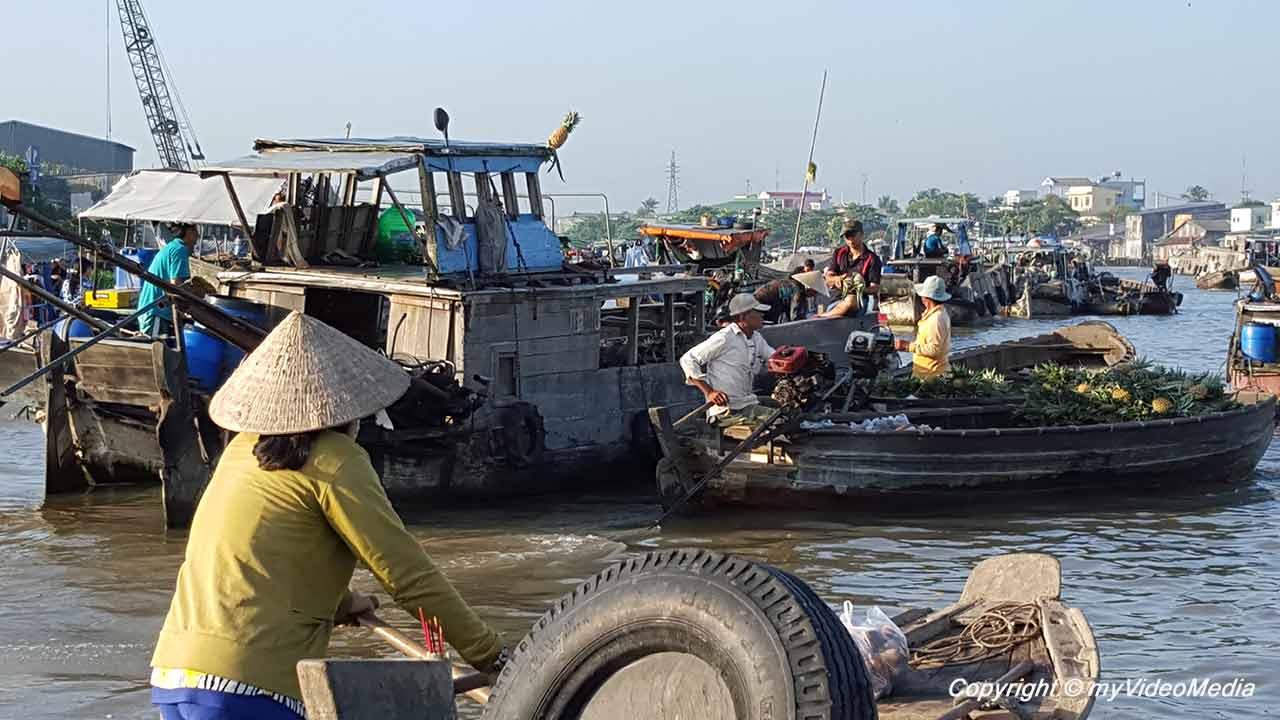 chwimmender Markt von Cái Răng
