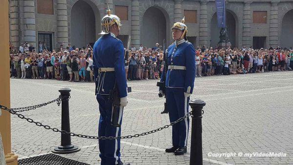 Changing of the Guard at Stockholm Palace