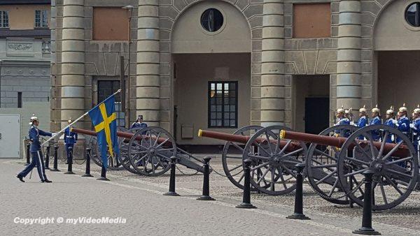 Wachablösung im Stockholmer Schloss