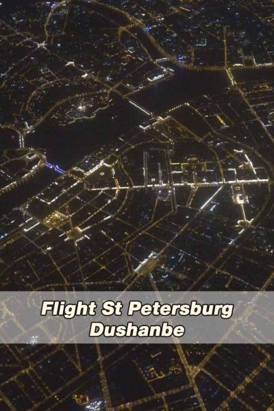 Flight Saint Petersburg to Dushanbe
