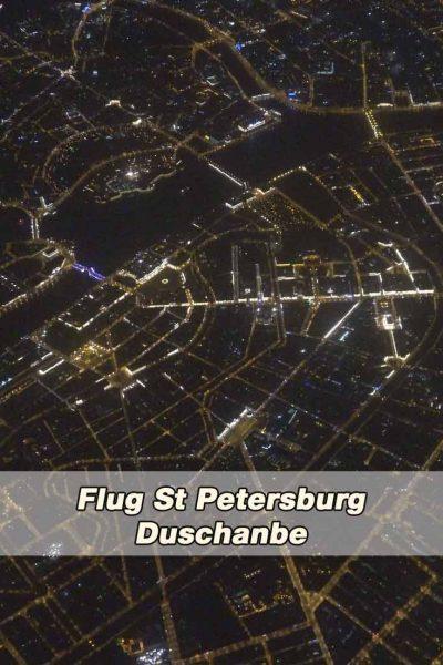Flug St Petersburg nach Duschanbe