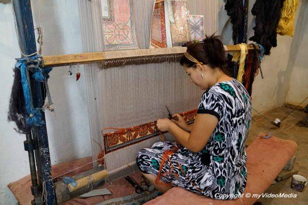 Khiva carpet weaving