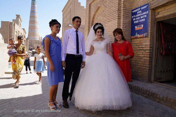 Wedding couple in Khiva