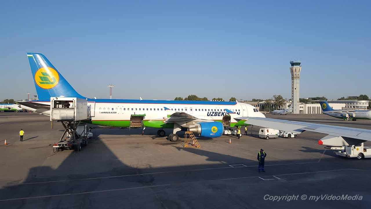 Flug von Taschkent nach Xiva