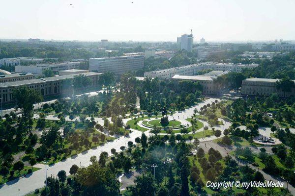 View from Uzbekistan Hotel roofbar