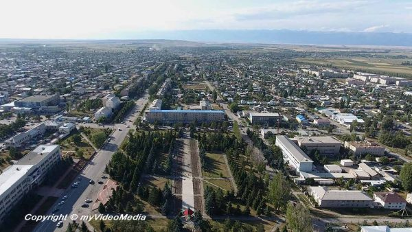 Bird's Eye View of Karakol - Kyrgyzstan - Travel Video Blog