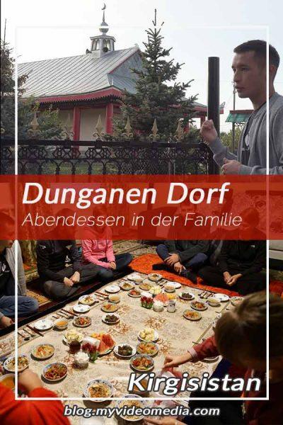 Dunganen Dorf und Familien Dinner in Yrdyk