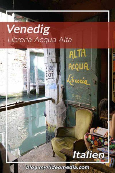 Libreria Acqua Alta Venedig