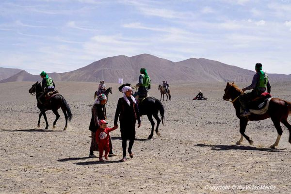 Vorbereitung beim Murghab Horse Festival