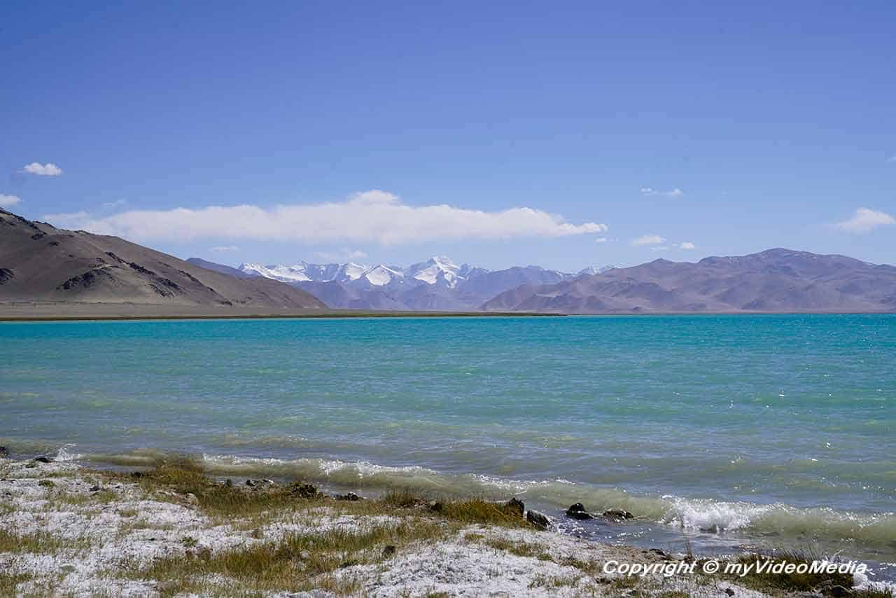 Karakul - lake in the crater of a meteor