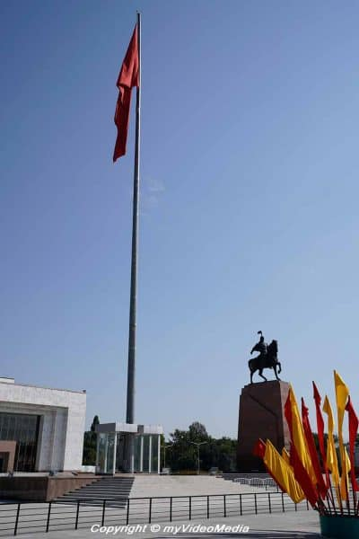 Kyrgyz Flag and Manas Bishkek