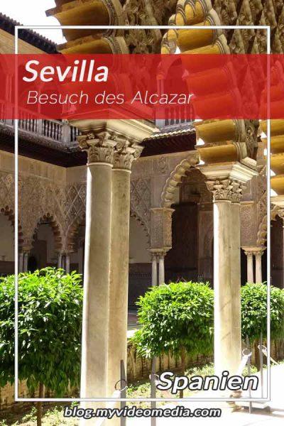 Besuch im Alcazar von Sevilla