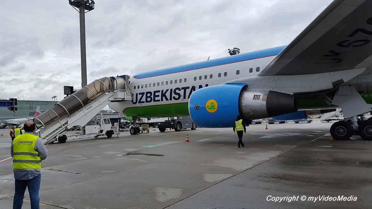 Flug von Taschkent nach Frankfurt