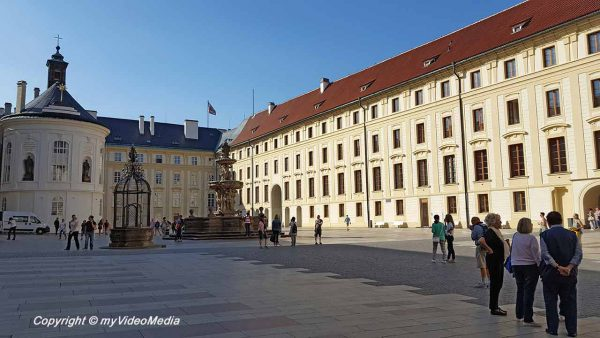 Courtyard New Royal Palace Prague