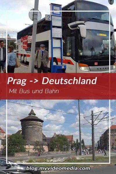 Mit Bus und Bahn von Prag nach Deutschland