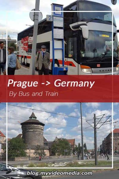 By Bus and train from Prague to Germany