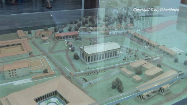 models of the Pelopion - Museum Olympia
