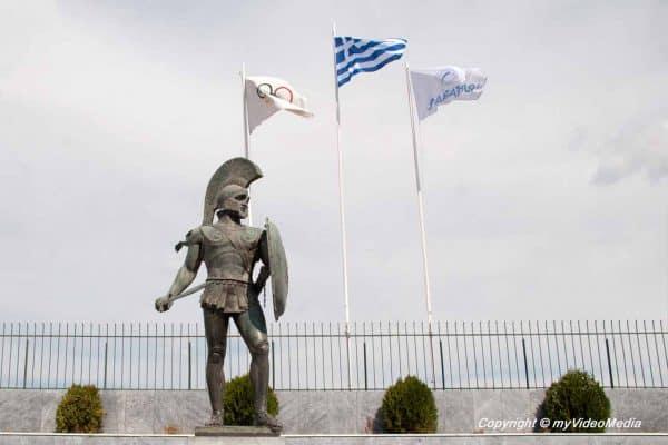 Leonidas Denkmal in Sparta