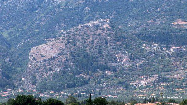 Blick von Sparta nach Mystras