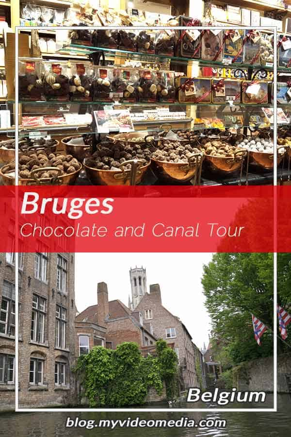 Pin Chololate and a Canal Tour in Bruges