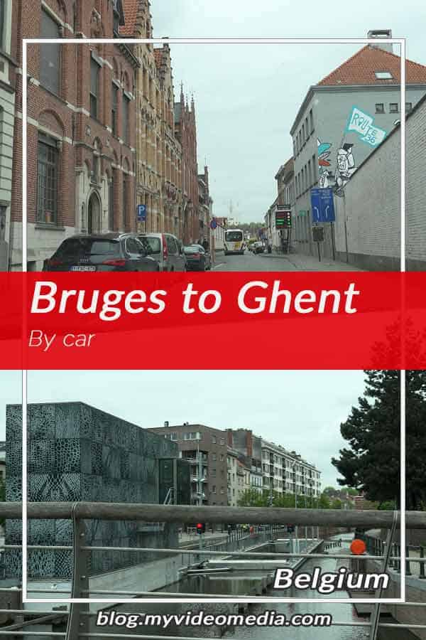 By car from Bruges to Ghent