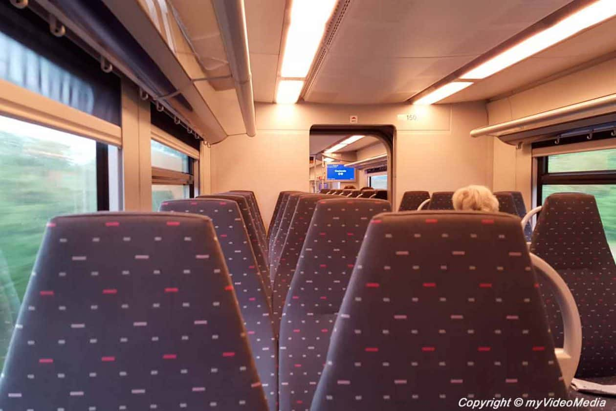 In the train from Ostende to Bruges