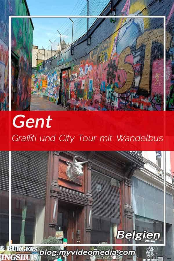 Pin Graffiti und City Tour mit dem Wandelbus in Gent