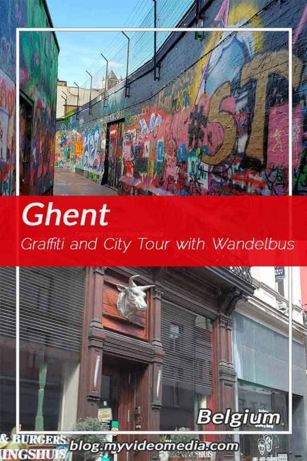 Pin Graffiti and City Tour with the Wandelbus in Ghent