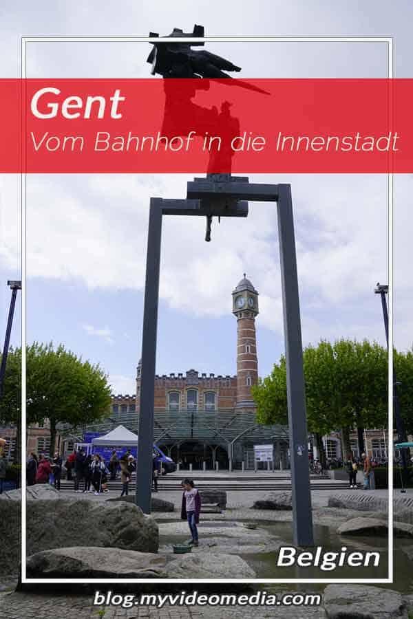 Vom Bahnhof in die Innenstadt von Gent