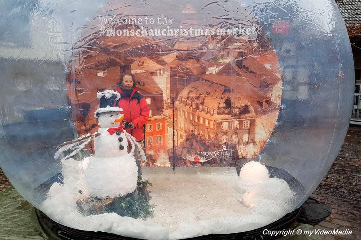 begehbare Schneekugel