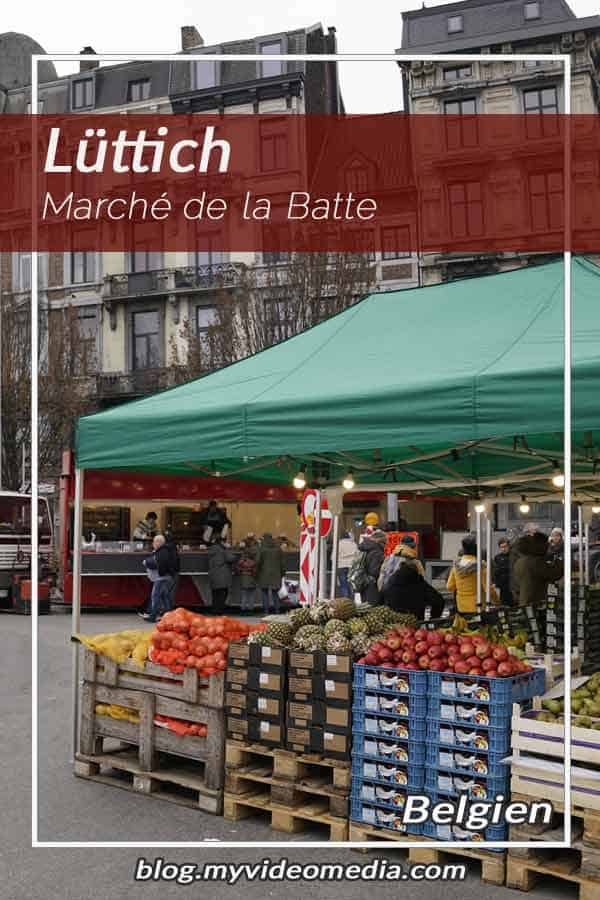 Besuch des Wochenmarktes La Batte