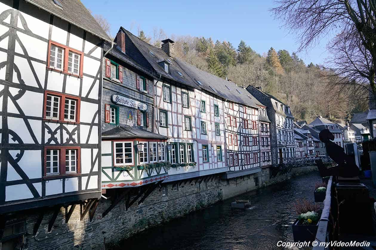 half-timbered houses along the Rur