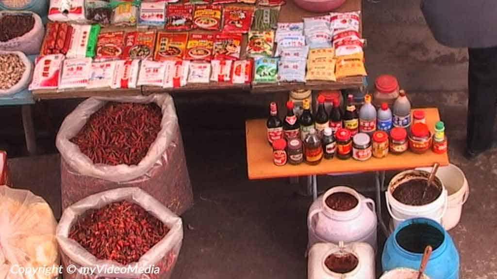 Chilies market Zigong