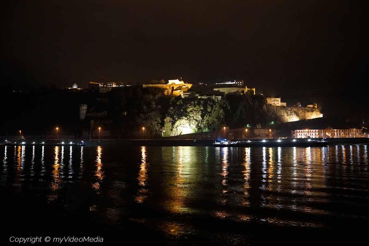 Festung Ehrenbreitstein bei Nacht
