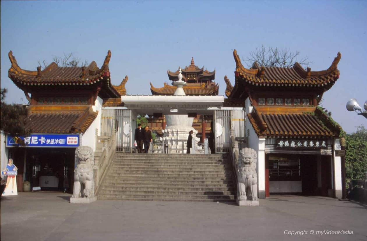 Eingang Gelger Kranich Tempel