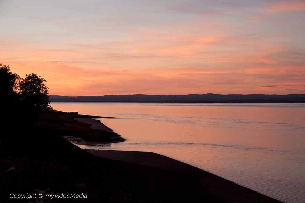Sunset at the Bay of Fundy